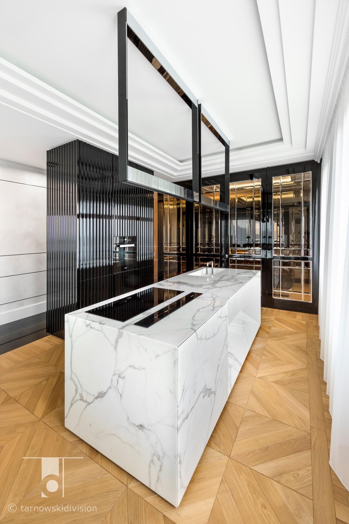 ekskluzywna kuchnia luksusowa kamienna wyspa kuchenna z kamienia aranżacja kuchni luxury kitchen island_tarnowski division