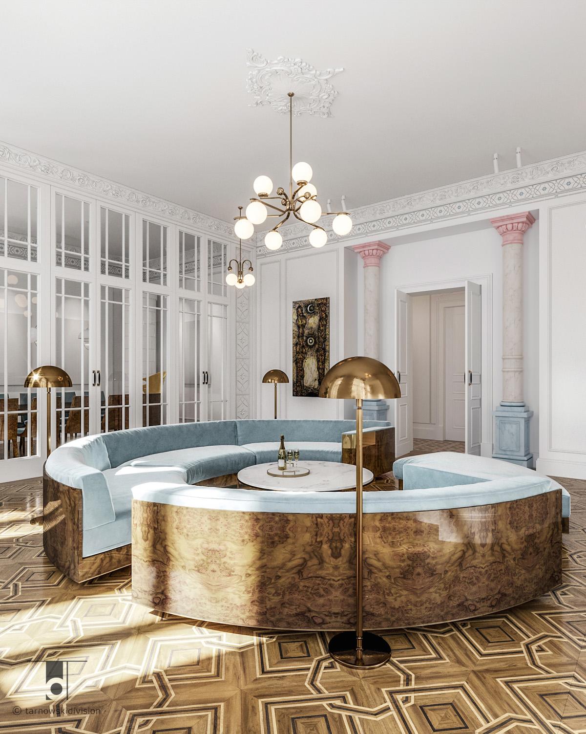 klasyczne wnętrze stylowe wnętrza projektowanie wnętrz klasycznych projekty stylowych wnętrz elegancki salon_tarnowski division
