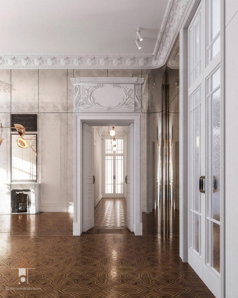 klasyczne wnętrze stylowe wnętrza projekty wnętrz klasycznych stylowych elegancki hol lobby_tarnowski division