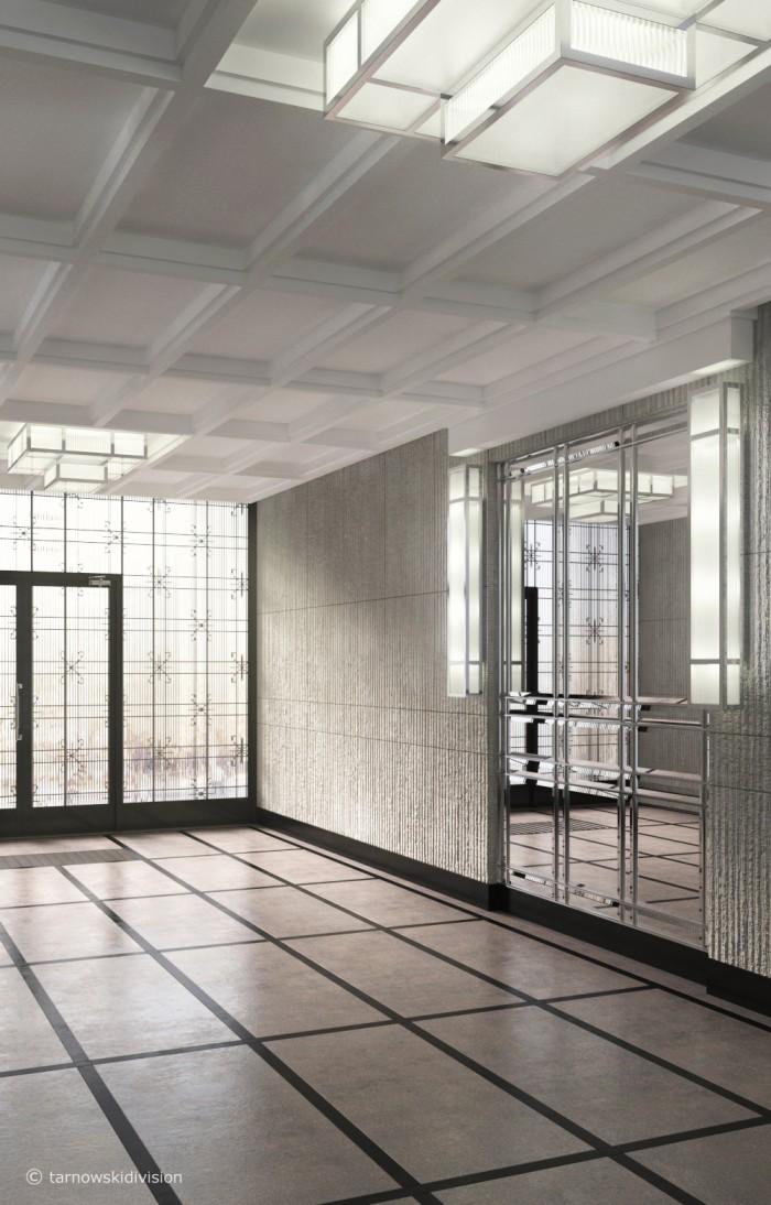 klasyczne wnętrza_karowa main hall_wejście główne_projekt wnętrz_tarnowski division
