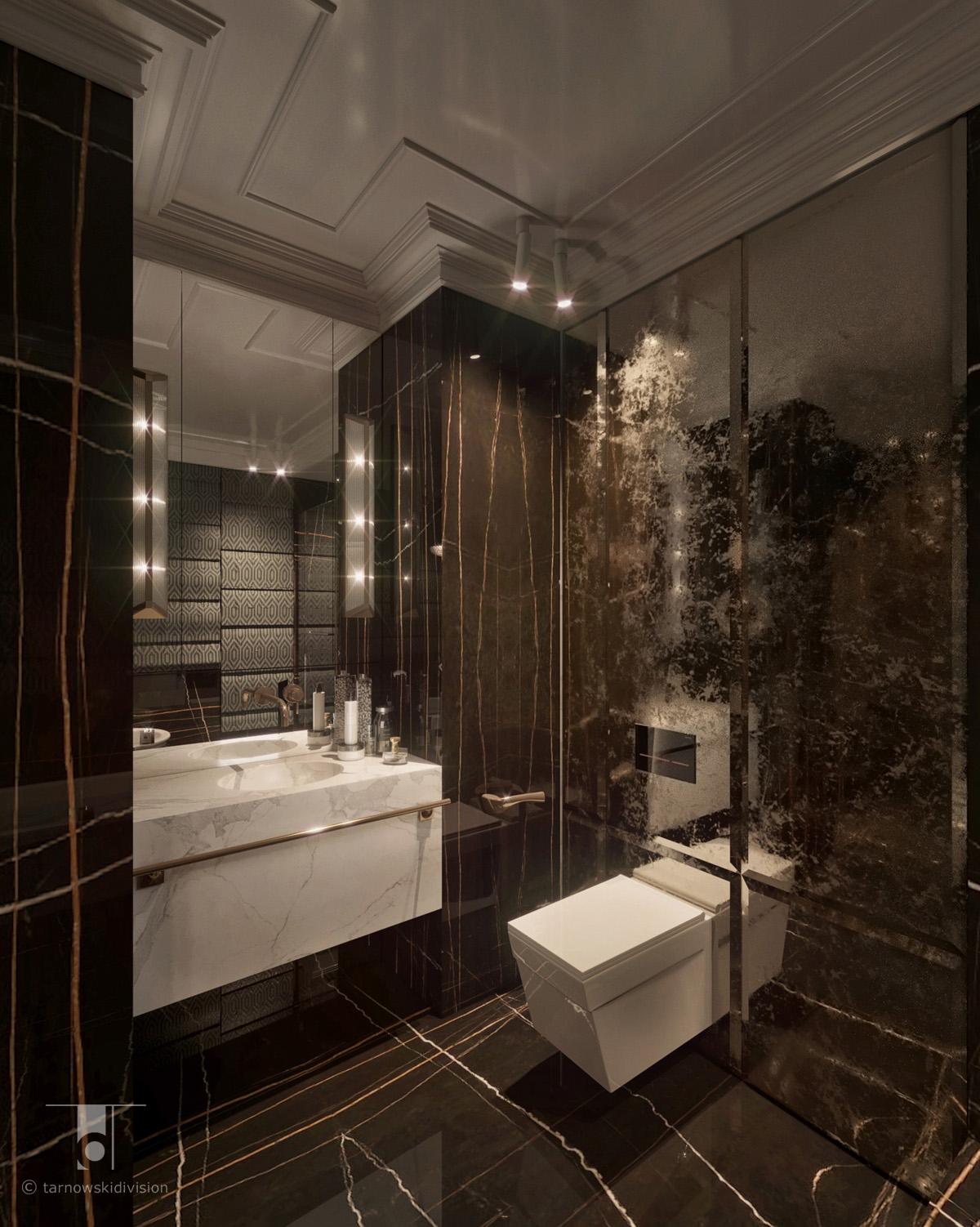 łazienka aranżacja wnętrz wystrój wnętrz łazienki luxury bathroom interior design_tarnowski division