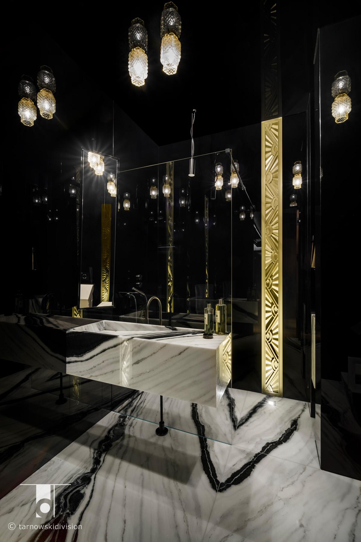 luksusowa łazienka kamienna marmurowa łazienka ekstrawagancka marble bathroom interior_tarnowski division