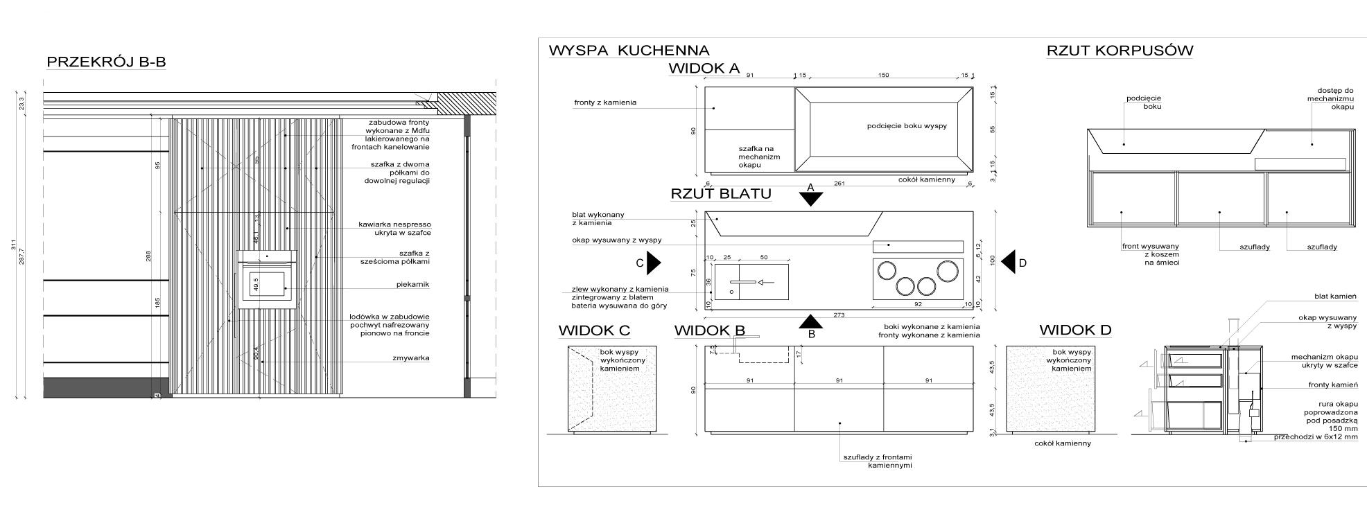 projekty i aranżacje kuchni__PROJEKT KUCHNI_RYS