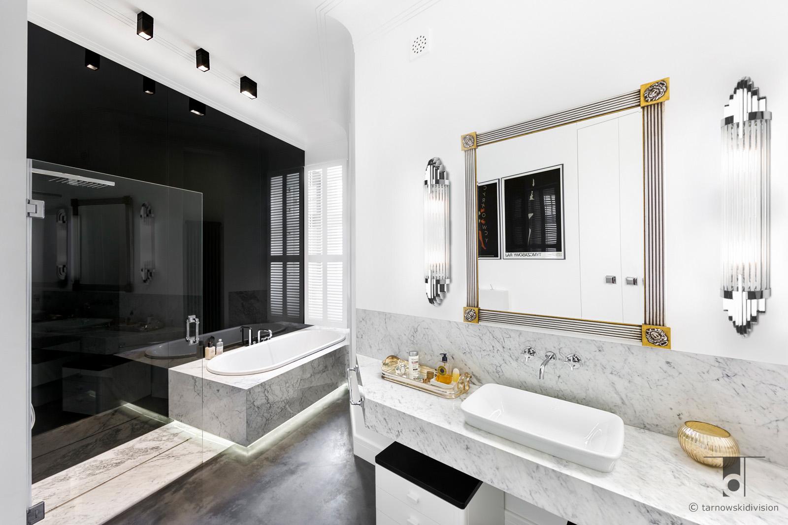 stylowa elegancka łazienka aranżacja wnętrz salonu kąpielowego classic luxury bathroom interior design_tarnowski division