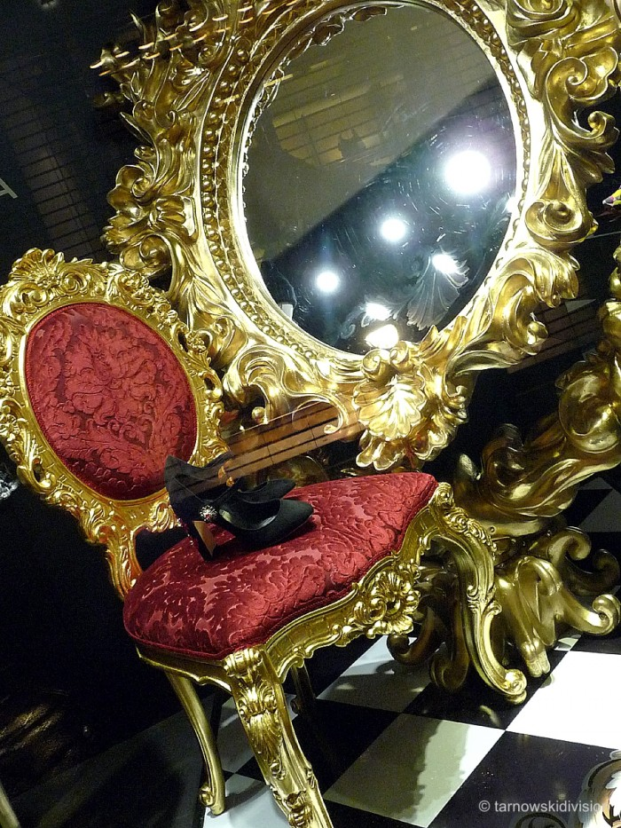 Chair & giant mirror