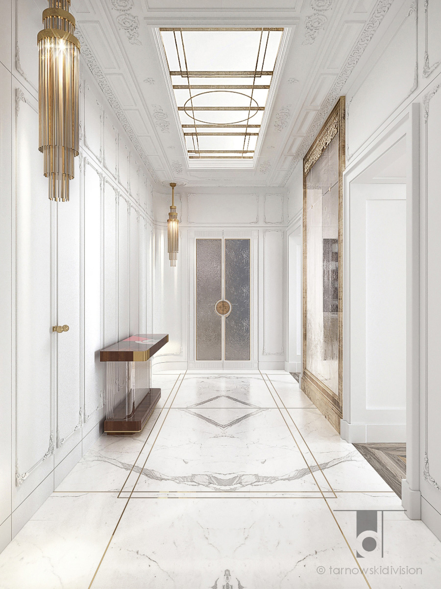 apartment Warsaw_luxury hall lobby_interior design_Tarnowski Division