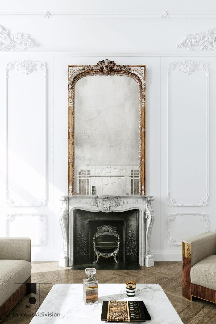 eleganckie wnętrze luksusowe wnętrze ekskluzywne wnętrza francuskie luxury apartament living room_tarnowski division