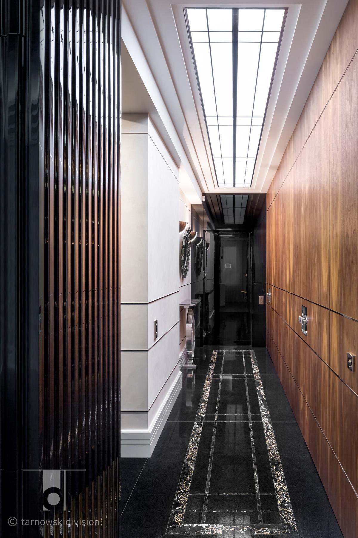 luksusowe wnętrza ekskluzywne wnętrze eleganckie wnętrze art deco hol lobby elegancki apartament luxury interio_tarnowski division