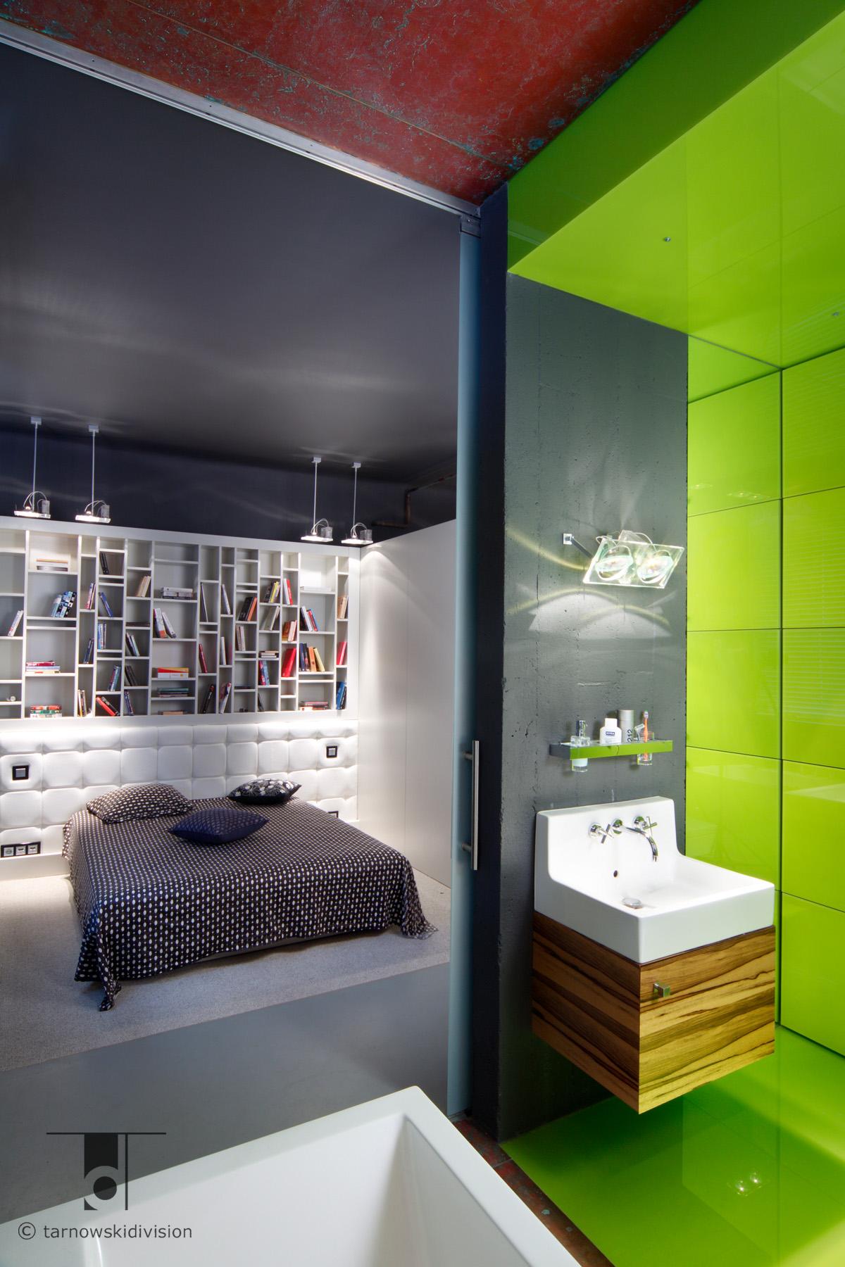 ekstrawagancka łazienka nowoczesna projekt wnętrz łazienki kolor modern ekstravagant bathroom interior_tarnowski division