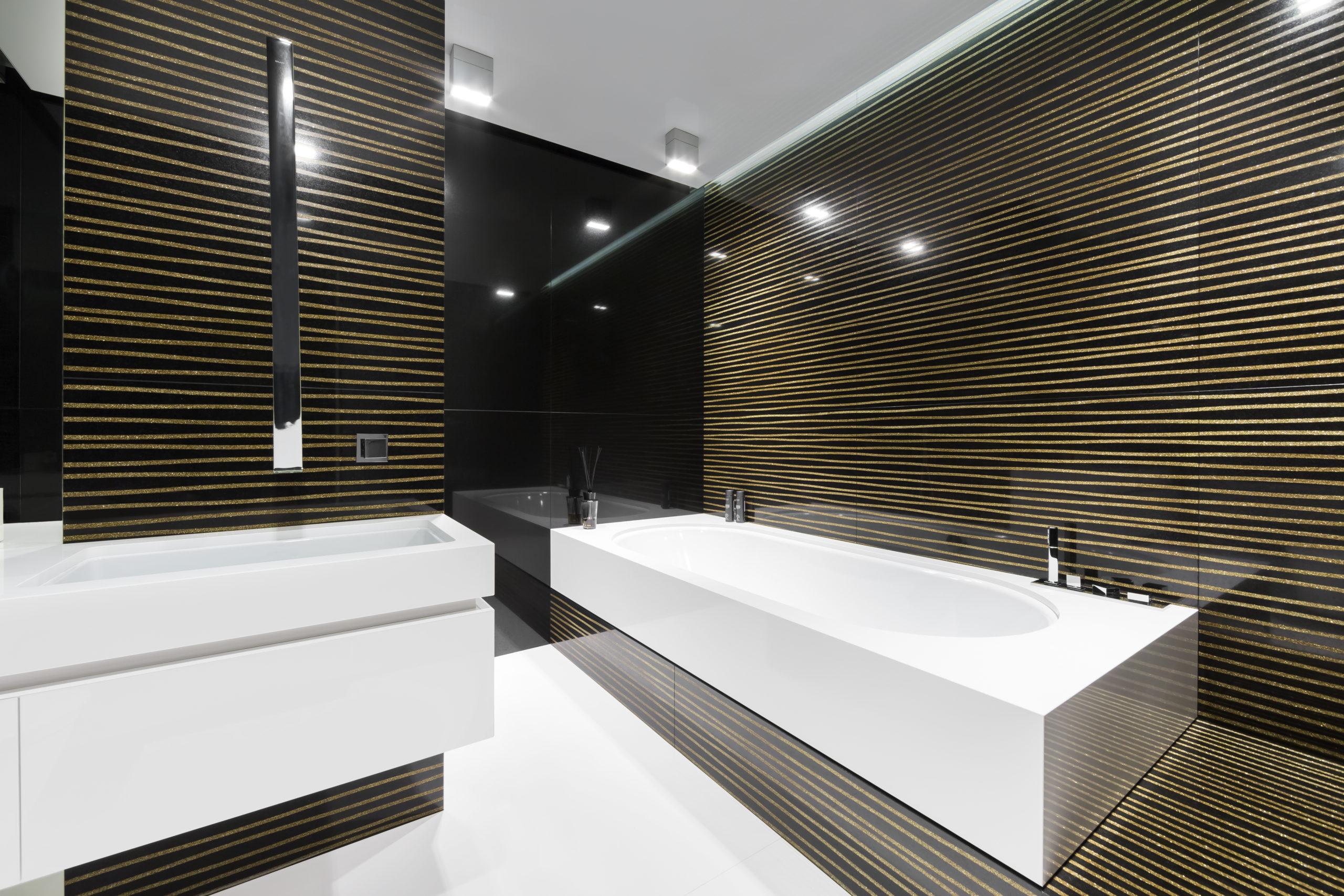 luksusowa łazienka nowoczesna elegancki pokój kąpielowy projekt wnętrz modern luxury bathroom interior_tarnowski division