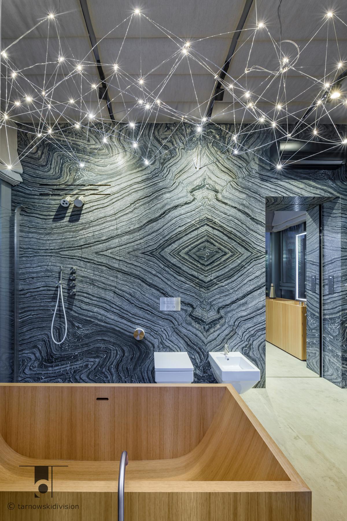 luksusowa nowoczesna łazienka drewniana wanna eko łazienka bathroom interior design_tarnowski division