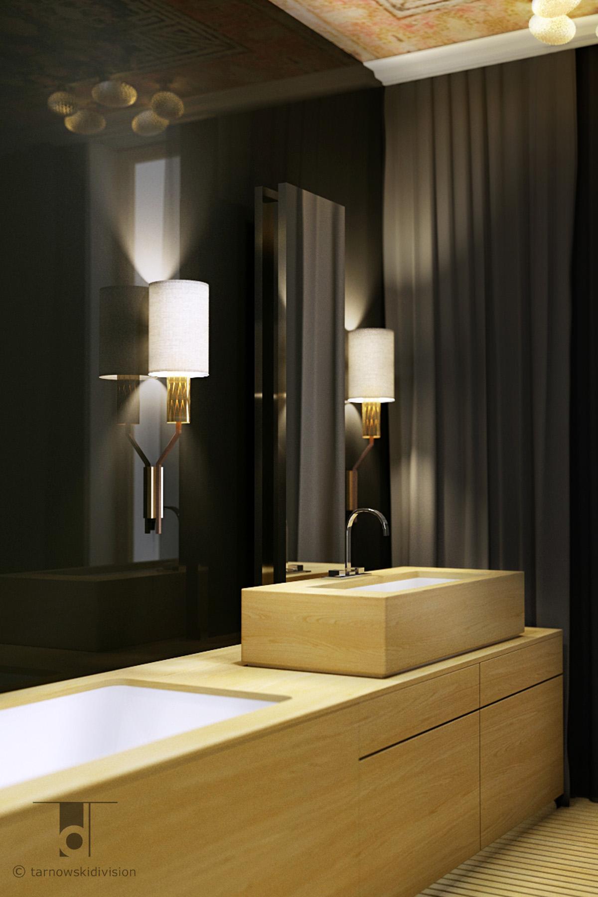 nowoczesna łazienka projekt wnętrz łazienki wystrój wnętrz modern luxury bathroom interior design_tarnowski division