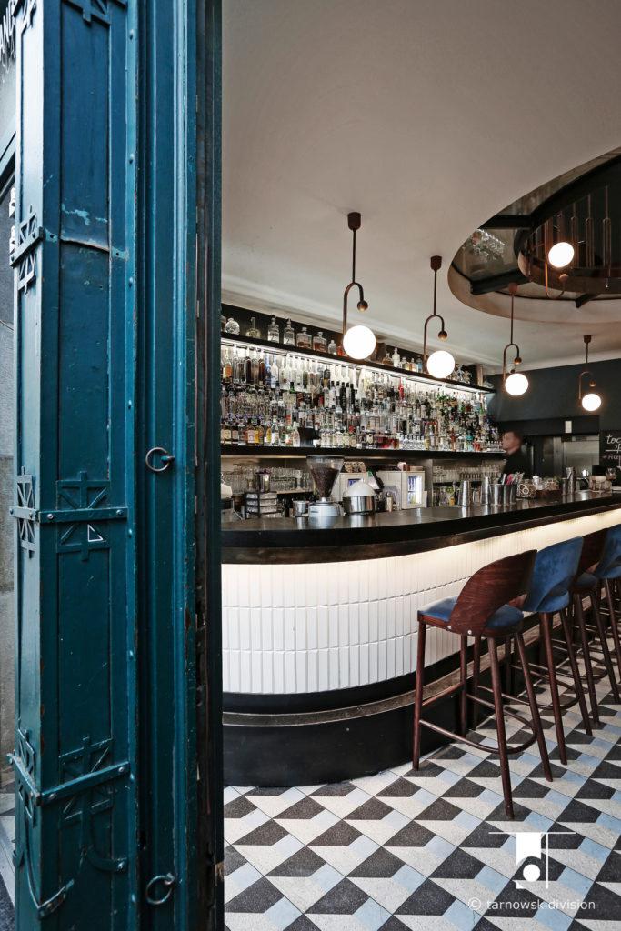 wnętrze baru restauracji Scandale Royale bar projekt restaurant interior design_tarnowskidivision